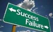 Road Sign - Success Failure